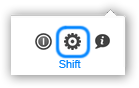 Shift-Show options button