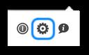 Show options button