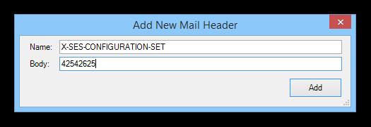 Add new mail header
