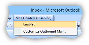 Mail Headers disabled