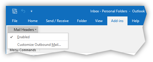 Mail Headers add-in