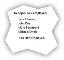 Employee list example