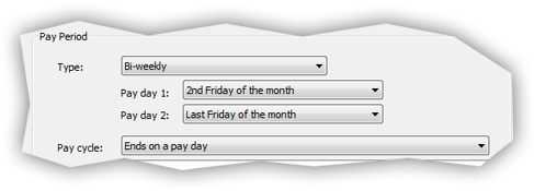 Bi-weekly pay period