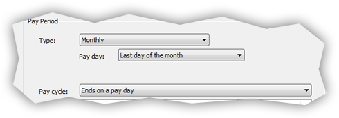 Monthly pay period