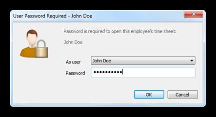 Password window