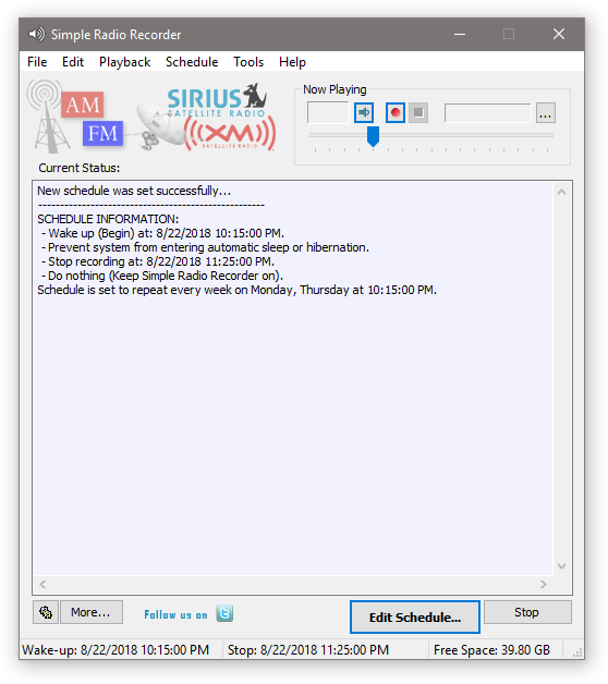 Simple Software to Record MP3 Audio  Simple Radio Recorder